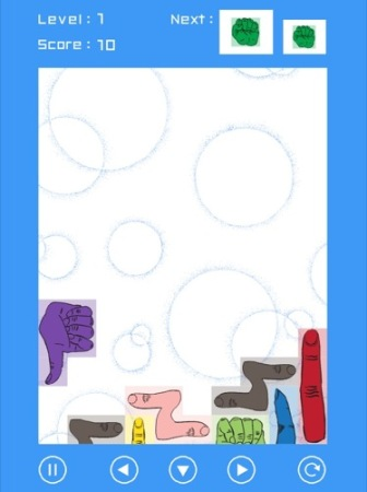 【やってみた】その発想はなかった!ブロックが全部「手」になっているテトリス「手・トリス!」3