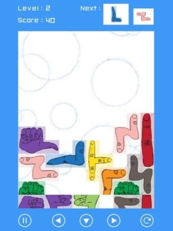 【やってみた】その発想はなかった!ブロックが全部「手」になっているテトリス「手・トリス!」5