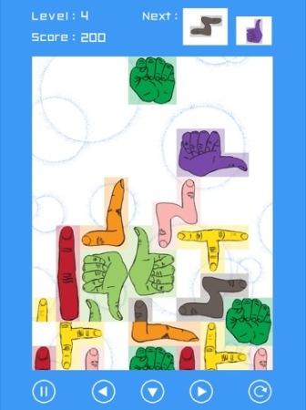 【やってみた】その発想はなかった!ブロックが全部「手」になっているテトリス「手・トリス!」6
