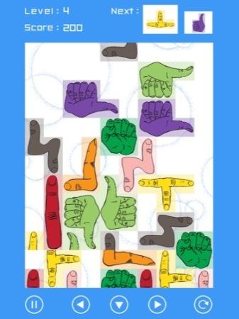 【やってみた】その発想はなかった!ブロックが全部「手」になっているテトリス「手・トリス!」7