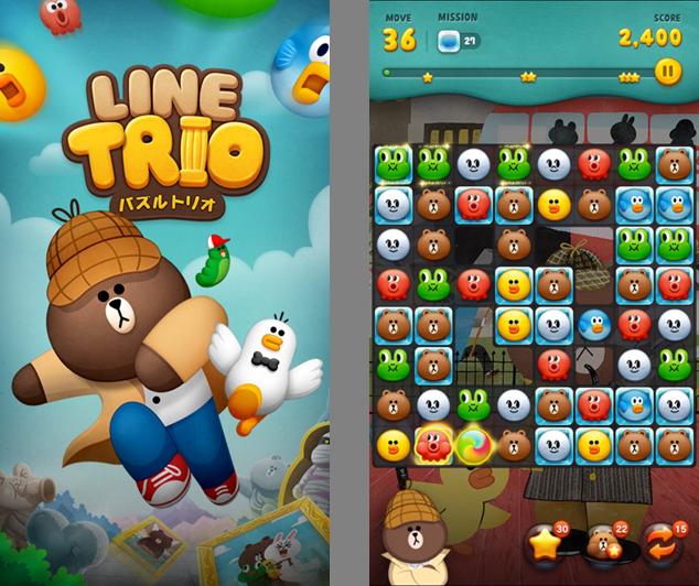 LINE、LINEキャラが登場するアドベンチャー型パズルゲーム「LINE トリオ」をリリース1
