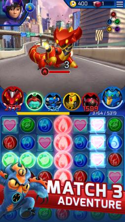 ディズニー、映画「ベイマックス」のスマホゲーム「Big Hero 6 Bot Fight」のiOS版をリリース 開発はGumi Asiaが担当2