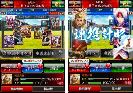 サムザップのスマホ向け戦国ゲーム「戦国炎舞 –KIZNA–」、300万ダウンロードを突破