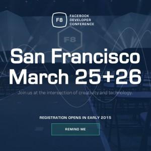 Facebook、開発者向けイベント「F8」の参加受付を開始
