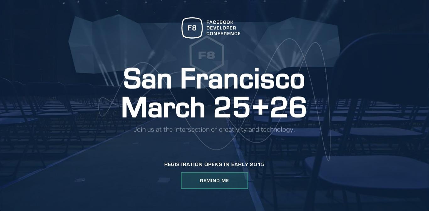 Facebook、2015年3月に開発者向けイベント「F8」を開催決定