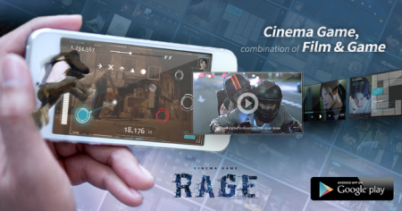 Syobe Creative、映画と連動したAndroid向けシネマゲーム「Cinema Game:RAGE」をリリース2