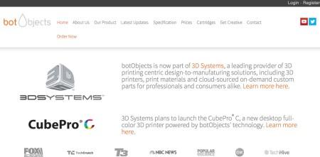 3D Systems、イギリスの3Dプリンタ開発会社のBotObjectsを買収