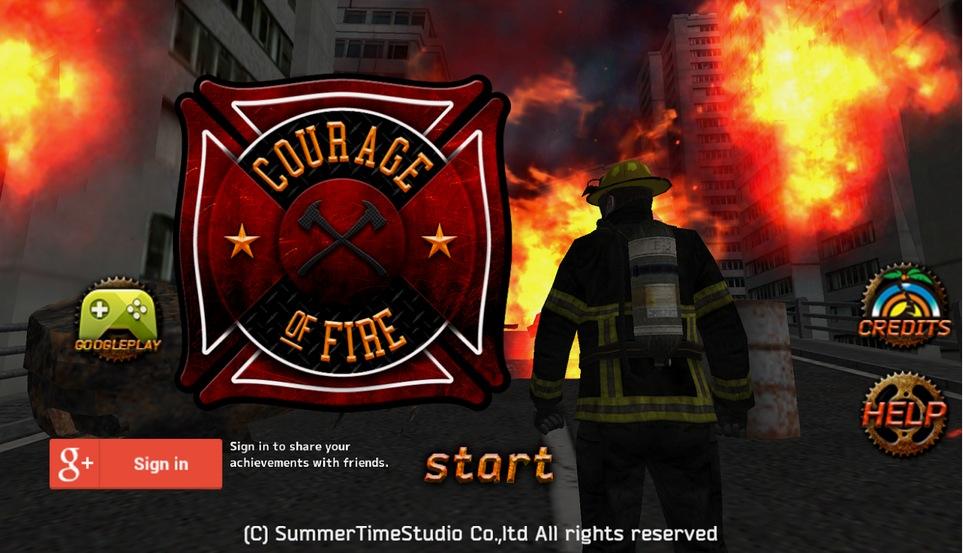 SummerTimeStudio、消防士となり鎮火作業を行うスマホ向け新作アクションゲーム「Courage Of Fire」のAndroid版をリリース