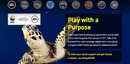 EA、WWFと協力し野生動物や生態系を保護する活動「PLAY FOR A PURPOSE」を支援