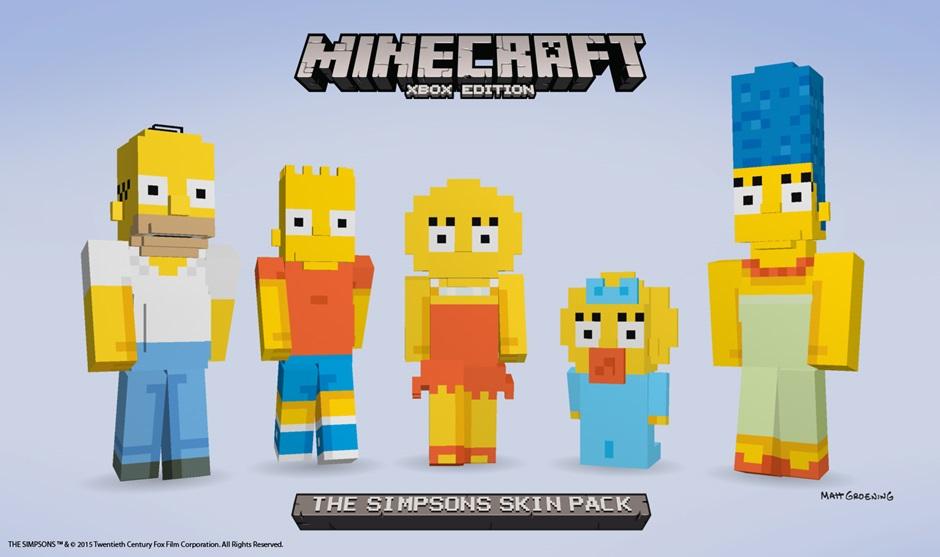 Microsoft、サンドボックスゲーム「Minecraft」のXbox版にて「ザ・シンプソンズ」のスキンパックを販売
