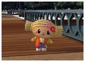 3D仮想空間「meet-me」に茨城県水戸市のマスコットキャラクター「みとちゃん」が登場