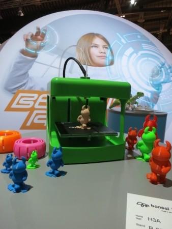 ボンサイラボ、ドイツの玩具ショー「Spielwarenmesse」に出展し新型3Dプリンタの「BS TOY」80℃で造形できる低温融解フィラメントを発表2