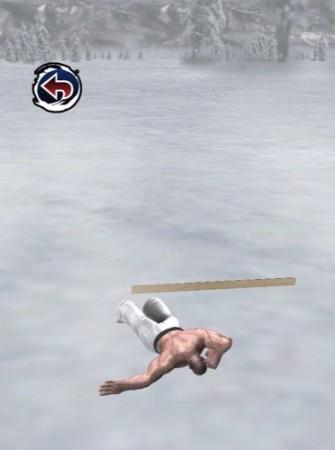 【やってみた】空手家が鼻水を垂らしながらスキージャンプする落下シミュレーター(?)「スキージャンプ アルティメイタム」5