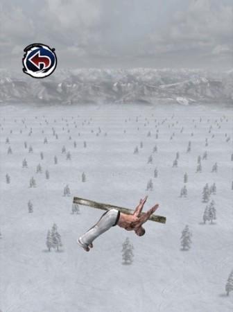 【やってみた】空手家が鼻水を垂らしながらスキージャンプする落下シミュレーター(?)「スキージャンプ アルティメイタム」4