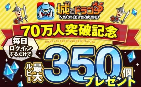 アソビズムのスマホ向けリアルタイムストラテジーゲーム「城とドラゴン」、70万ダウンロードを突破