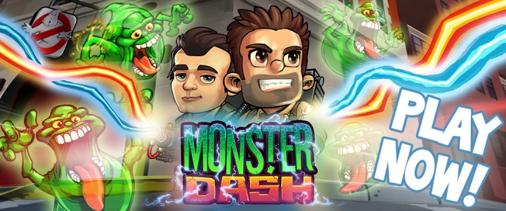 Halfbrick、スマホ向けランニングアクションゲーム「Monster Dash」にて映画「ゴースト・バスターズ」とコラボ