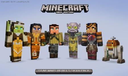 Microsoft、サンドボックスゲーム「Minecraft」のXbox版にてアニメ「スター・ウォーズ 反乱者たち」のスキンパックを販売