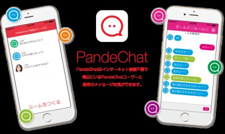 電通ブルー、ネット接続不要&匿名で利用可能なメッセージングアプリ「PandeChat」をリリース