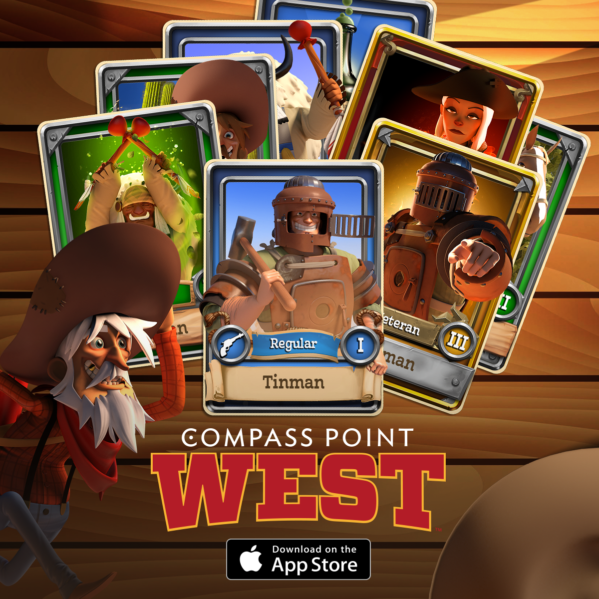 ストラテジー+カード収集+西部開拓 フィンランドのNext Games、第一弾タイトルとなるスマホ向け西部開拓シミュレーション「Compass Point: West」をリリース