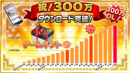 スマートフォン向けゲームメディア「ゲームギフト」、300万ダウンロードを突破