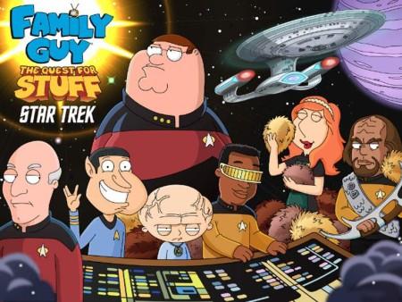 米モバイルゲームディベロッパーのTinyCo、アニメ「ファミリー・ガイ」のスマホゲーム「Family Guy: The Quest for Stuff」にて「スタートレック」とコラボ
