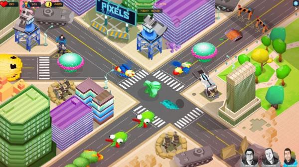 バンダイナムコエンターテインメント、パックマンなどのゲームキャラが登場する新作映画「Pixels」のスマホゲームを提供決定