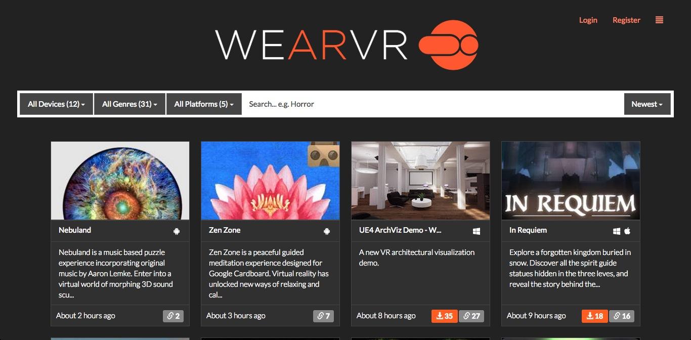 VRコンテンツプラットフォームの「WEAR VR」、150万ドルを調達
