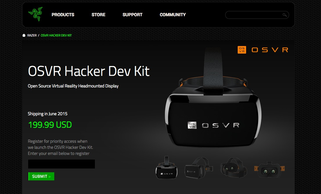 オープンソースのVR用ヘッドマウントディスプレイ「OSVR」、6月より開発者向けキットを出荷開始