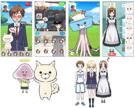 Yahoo! JAPAN、自分の表情が2Dアバターに反映されるスマホアプリ「なりきろいど」のiOS版をリリース
