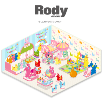 LINE、スマホ向け仮想空間「LINE PLAY」にてイタリア生まれのカラフル玩具「Rody」のルームを公開