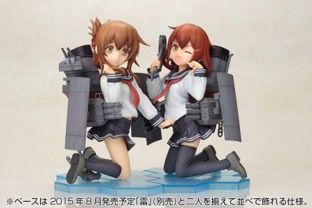 「雷(いかずち)」と並べるとかわいさ倍増 壽屋、アニメ版「艦隊これくしょん -艦これ-」の駆逐艦「電(いなづま)」のフィギュアを9月に発売