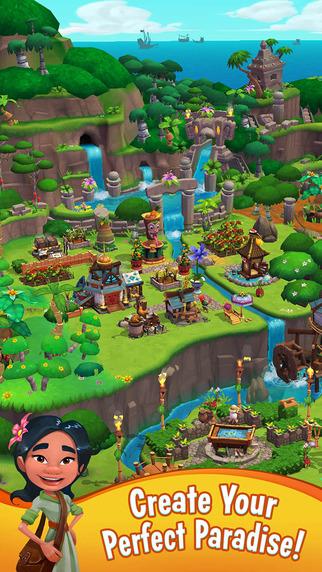パズルだけじゃない King、スマホ向け島作りシミュレーションゲーム「Paradise Bay」のテスト配信を開始