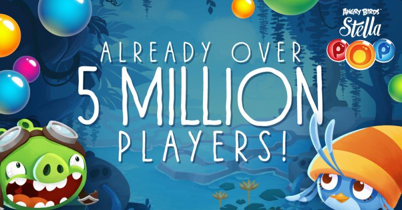 Angry Birdsシリーズのパズルゲーム「Angry Birds Stella POP!」、3000万ダウンロードを突破