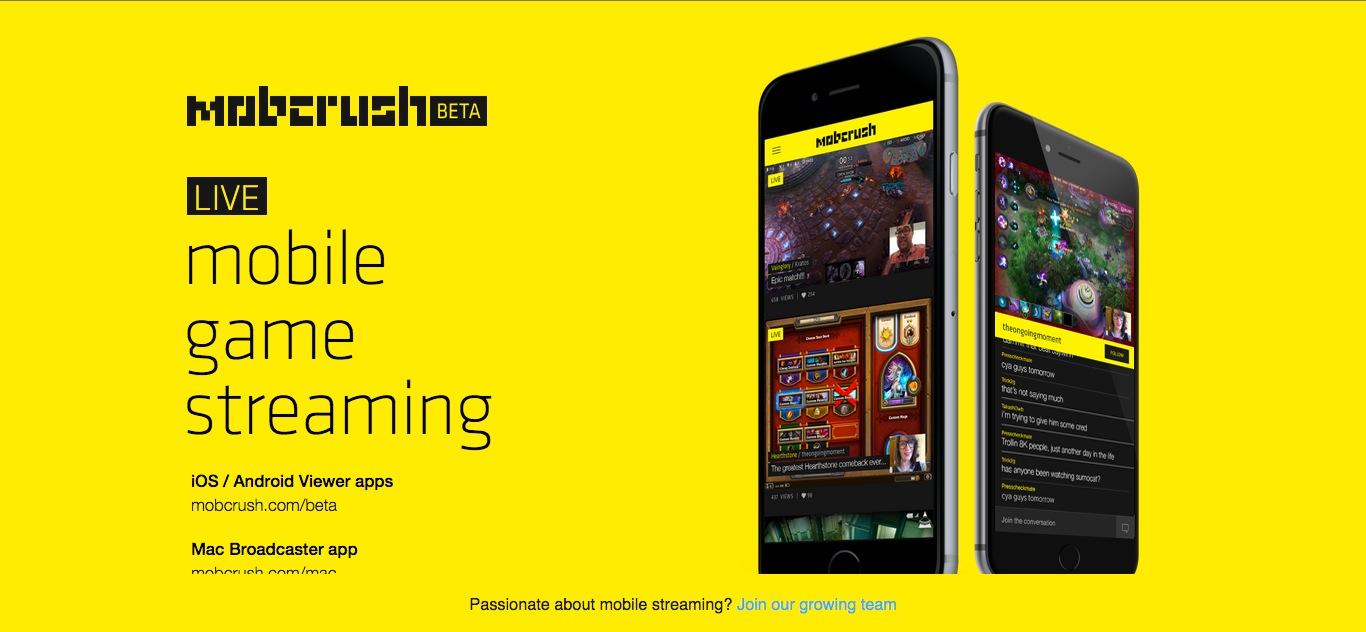 モバイルゲーム実況サービスのMobcrush、490万ドルを調達