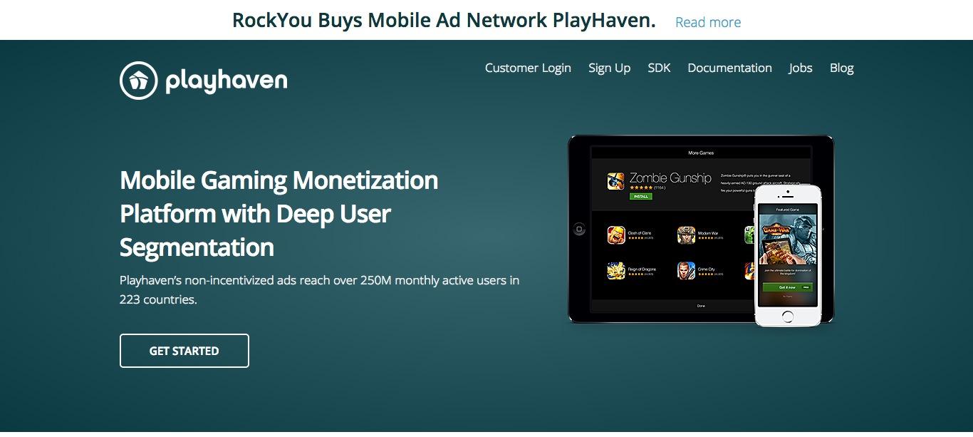 ソーシャルゲームディベロッパーのRockYou、モバイル向け広告のPlayHavenを買収