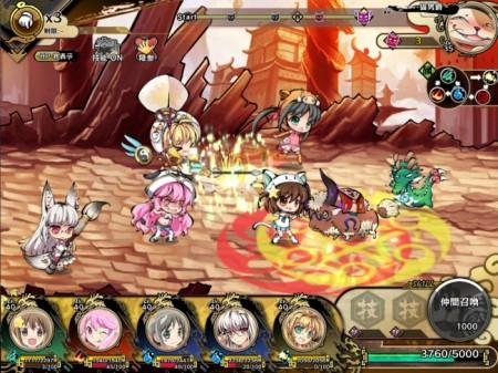 DMMの横スクロール進撃RPG「九十九姫」、アニメ「えとたま」とコラボ