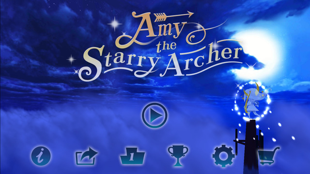 Wright Flyer Studios、夜空を飛んで星を集める幻想的なスマホ向けフライトアクションゲーム「Amy the Starry Archer」をリリース