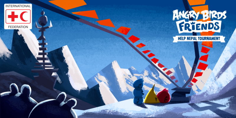 Rovio、Angry Birdsのソーシャル版「Angry Birds Friends」にてネパール大地震のチャリティプログラムを実施