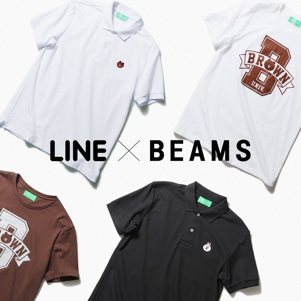 LINEとBEAMSがコラボ! Tシャツとポロシャツを6/6より先行販売