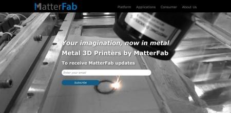 金金属素材用3Dプリンタを開発するMatterFab、575万ドルを調達