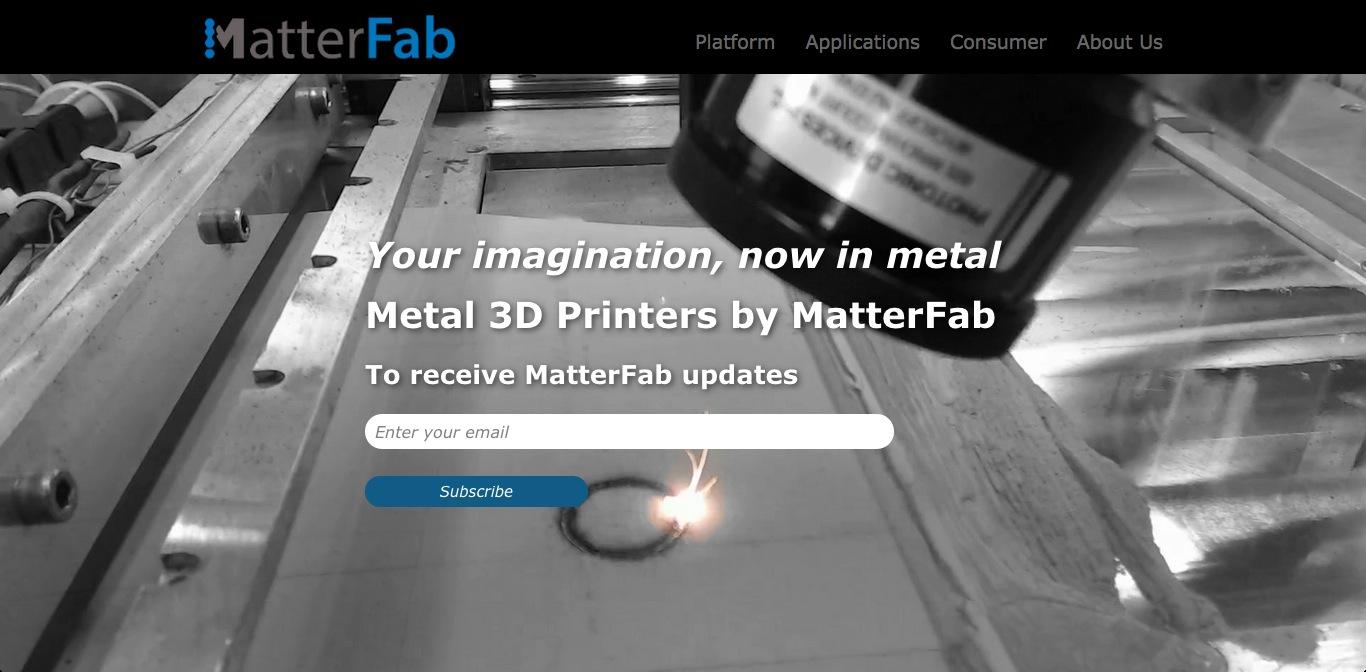金属で3Dプリント出力を行うMatterFab、575万ドルを調達