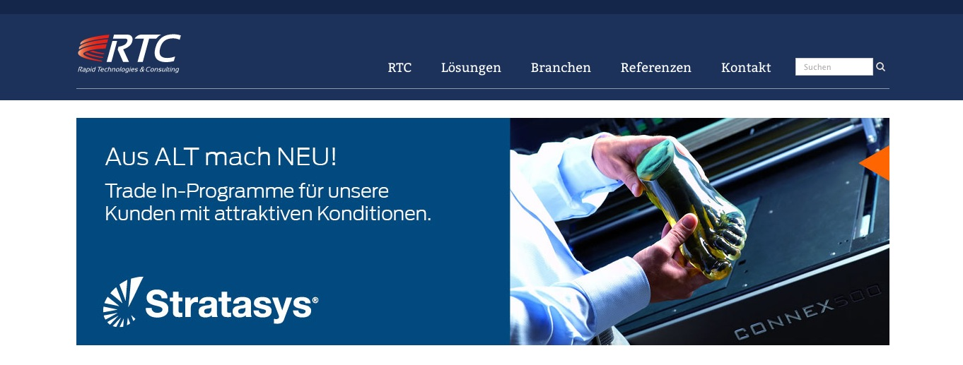 業務用3DプリンタメーカーのStratasys、ドイツのRTC Rapid Technologiesを買収