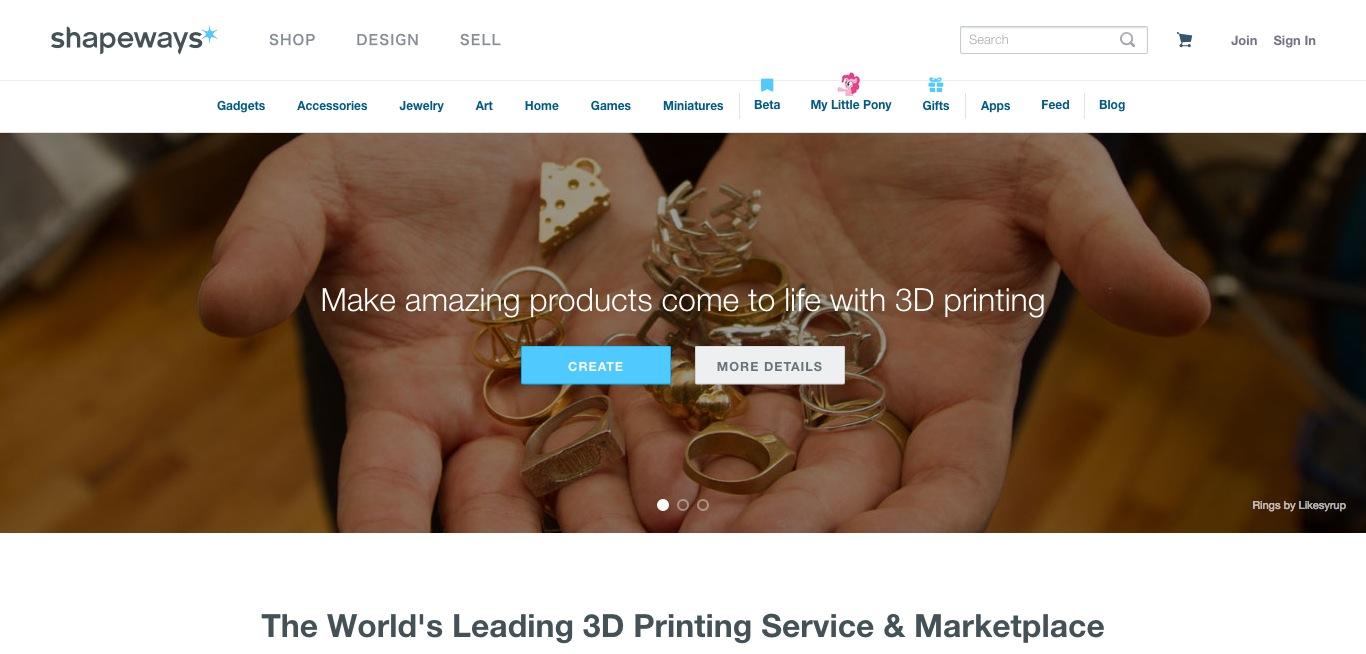 3Dプリント企業のShapeways、シリーズDラウンドで3000万ドルを調達