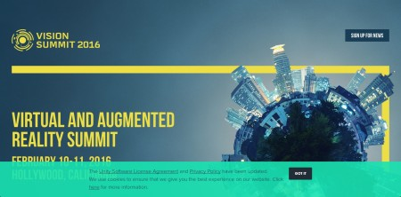 Unity Technologies、来年2月に米ロサンゼルスにてVR/AR系カンファレンス「Vision Virtual and Augmented Reality Summit」を開催