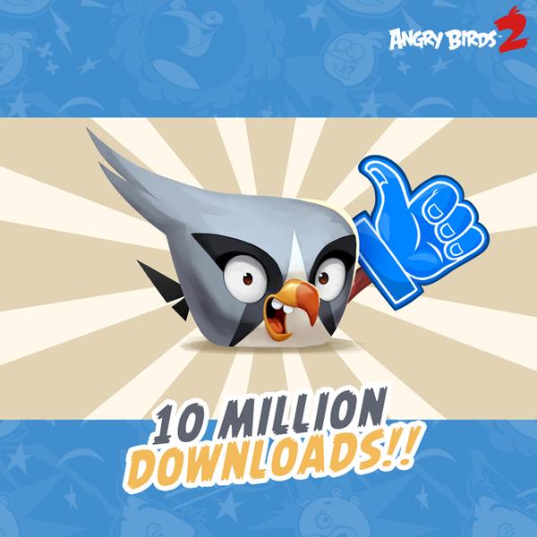 「Angry Birds」シリーズ最新作「Angry Birds 2」、早くも1000万ダウンロードを突破