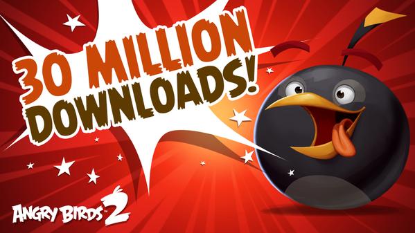 「Angry Birds」シリーズ最新作「Angry Birds 2」が3000万ダウンロードを突破 1/3が中国から