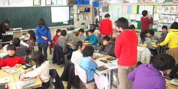 CA Tech Kids、東日本大震災の被災地で小学生向けプログラミング授業を実施