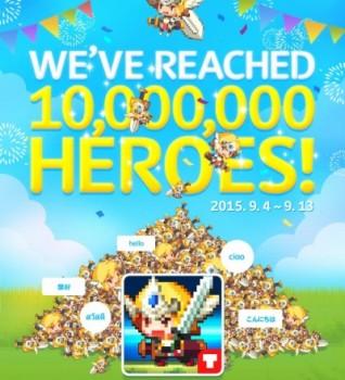 NHNエンターテインメントのスマホ向けピクセルアートRPG「クルセイダークエスト」、世界累計1000万ダウンロードを突破