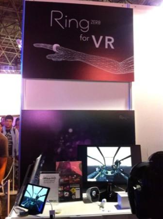 【TGS2015】VR対応ヘッドマウントディスプレイ「iWearHD」と指輪型ウェアラブルデバイス「Ring」でVRゲームをプレイ