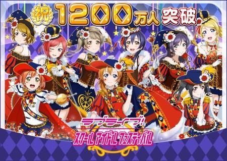 KLabの「ラブライブ!スクールアイドルフェスティバル」、日本国内1200万ユーザーを突破